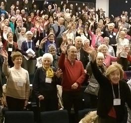 Members of LLIR waving.